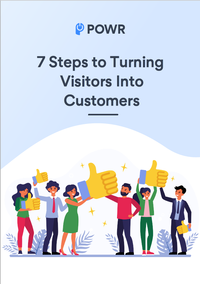 7 Steps to turn visitor into customers cover